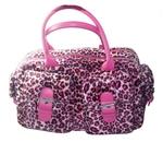 Punková kabelka dámská růžový leopard