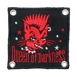 Nášivka připínací - Queen of Darkness Red Cat